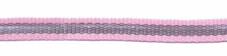 Roze-zilver grosgrain/ribsband 7 mm (ca. 25 m)