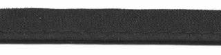 Zwart piping-/paspelband STANDAARD - 2 mm koord (ca. 10 meter)