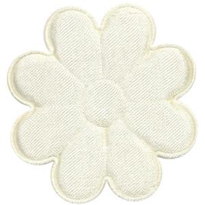 Applicatie bloem ivoor satijn effen groot 50 mm (ca. 100 stuks)