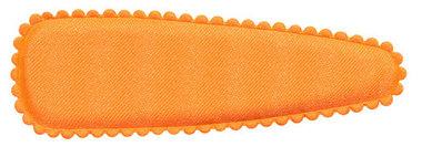 Haarkniphoesje NEON oranje satijn effen 8 cm (ca. 100 stuks)