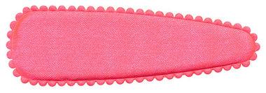 Haarkniphoesje NEON roze satijn effen 8 cm (ca. 100 stuks)
