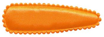 Haarkniphoesje NEON oranje satijn effen 5 cm (ca. 100 stuks)