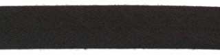 Zwart biaisband 13 mm (ca. 10 meter)