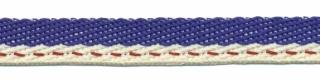 Kobalt blauw-creme 'Japans' band 10 mm (ca. 25 m)