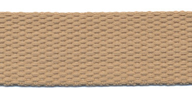 Tassenband 25 mm zand/beige COTTON-LOOK (ca. 25 m)