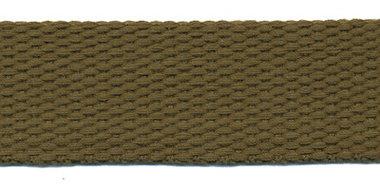 Tassenband 25 mm legergroen COTTON-LOOK (ca. 25 m)