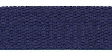 Tassenband 25 mm donker blauw COTTON-LOOK (ca. 25 m)