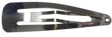Klik-klak haarknipje zilverkleurig 4,7 cm EXTRA STEVIG (ca. 20 stuks)
