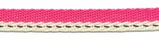 Fuchsia-creme 'Japans' band 10 mm (ca. 25 m)