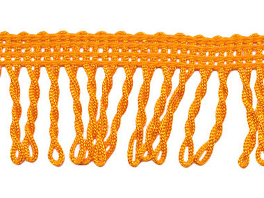 Franjeband gedraaid oranje ca. 32 mm (ca. 22 meter)