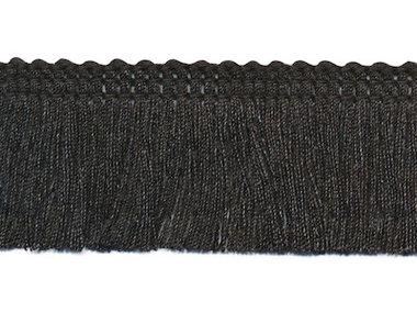Franjeband zwart ca. 30 mm (ca. 22 meter)