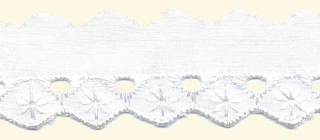 Broderie wit 25 mm (ca. 13,5 m)