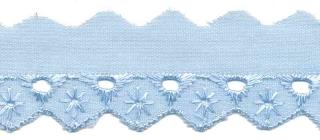 Broderie licht blauw 25 mm (ca. 13,5 m)