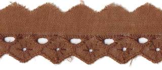 Broderie bruin 25 mm (ca. 13,5 m)