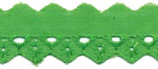Broderie licht groen 25 mm (ca. 13,5 m)