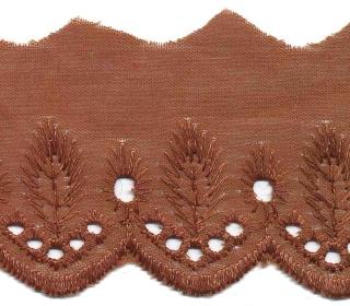 Broderie bruin 50 mm (ca. 13,5 m)