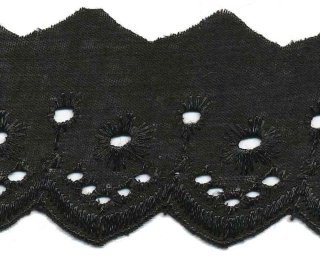 Broderie zwart 50 mm (ca. 13,5 m)