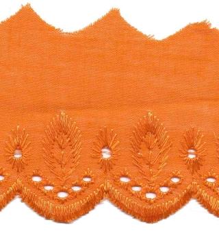 Broderie oranje 50 mm (ca. 13,5 m)