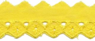Broderie licht geel 25 mm (ca. 13,5 m)