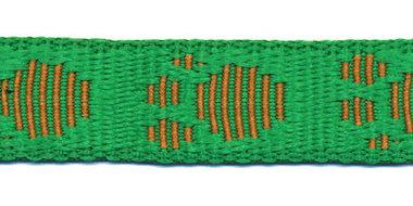 Tassenband 20 mm pootje grasgroen/terra (ca. 5 m)