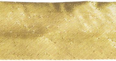 Goudkleurig (warm) gevouwen biaisband 25 mm (ca. 10 meter)