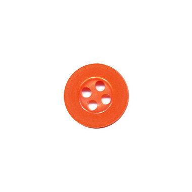Knoop met 4 gaten oranje 10 mm (ca. 100 stuks)