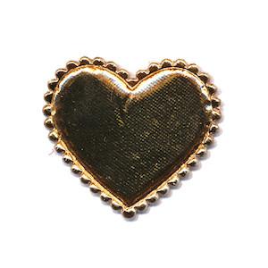 Applicatie hart goud middel 35 x 30 mm (ca. 100 stuks)