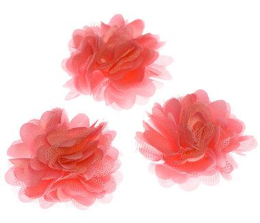 Bloem stof NEON roze ca. 5 cm (5 stuks)