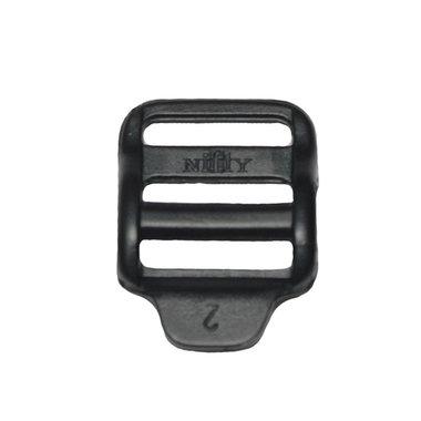 Laddergesp zwart kunststof 20 mm (10 stuks)