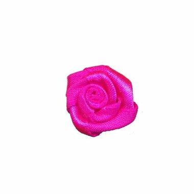 Roosje satijn knal roze 20 mm (ca. 25 stuks)