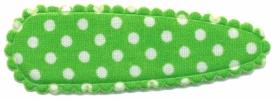 Haarkniphoesje felgroen met witte stip / polkadot 5 cm (ca. 100 stuks)