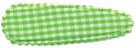 Haarkniphoesje geruit wit-groen 5 cm (ca. 20 stuks)