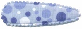 Haarkniphoesje blauw met noppen printje 5 cm (ca. 20 stuks)