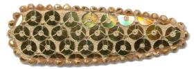 Haarkniphoesje met pailletten goud 5 cm (ca. 100 stuks)