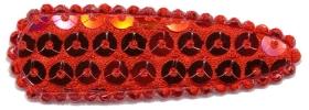 Haarkniphoesje met pailletten rood 5 cm (ca. 20 stuks)