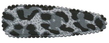 Haarkniphoesje panterprint grijs 8 cm (ca. 20 stuks)
