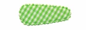 Haarkniphoesje groen-wit geruit 3 cm (ca. 100 stuks)