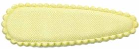 Haarkniphoesje satijn zachtgeel 5 cm (ca. 100 stuks)