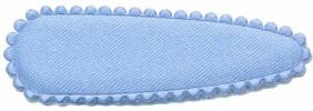 Haarkniphoesje satijn licht blauw 5 cm (ca. 20 stuks)