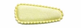 Haarkniphoesje satijn zachtgeel 3 cm (ca. 20 stuks)