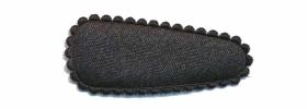 Haarkniphoesje satijn zwart 3 cm (ca. 100 stuks)