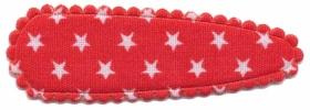 Haarkniphoesje rood met kleine witte sterretjes 5 cm (ca. 20 stuks)