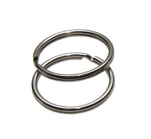 Sleutelring zilverkleurig 20 mm (10 stuks)