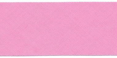 Roze #25 ongevouwen biaisband 30 mm (ca. 10 meter)