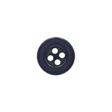 Knoop met 4 gaten donker blauw 10 mm (ca. 100 stuks)