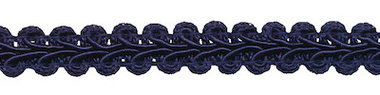 Galonband donker blauw 9 mm (ca. 16 meter)