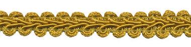 Galonband okergeel/goud 9 mm (ca. 16 meter)