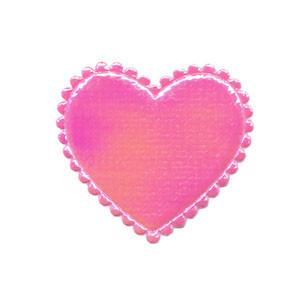 Applicatie glim hart roze middel 35 x 30 mm (ca. 100 stuks)