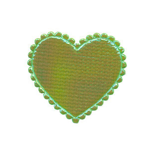 Applicatie glim hart groen middel 35 x 30 mm (ca. 100 stuks)
