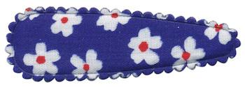 Haarkniphoesje kobalt blauw met bloem 5 cm (ca. 20 stuks)